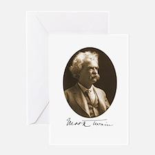 Mark Twain Greeting Card