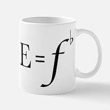 Cute E equals f flat Mug