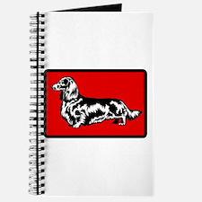 Retro Longhaired Dachshund Journal