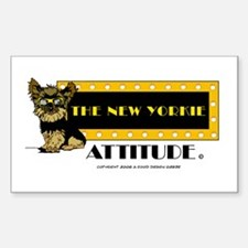 The New Yorkie Attitude Rectangle Decal