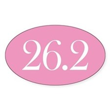 Marathon Pink Oval Decal
