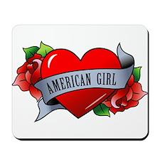 Heart & Rose - American Girl Mousepad