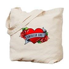 Heart & Rose - American Girl Tote Bag