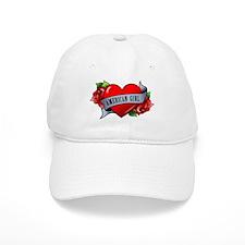 Heart & Rose - American Girl Baseball Cap