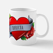 Heart & Rose - Boricua Mug