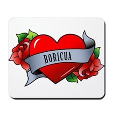 Heart & Rose - Boricua Mousepad