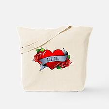 Heart & Rose - Boricua Tote Bag