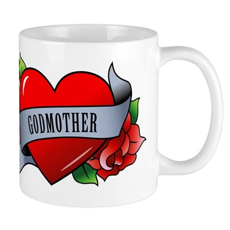Heart & Rose - Godmother Mug