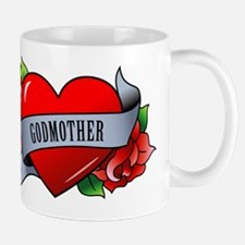 Heart & Rose - Godmother Mug