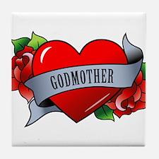 Heart & Rose - Godmother Tile Coaster