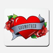 Heart & Rose - Godmother Mousepad