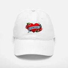 Heart & Rose - Godmother Baseball Baseball Cap