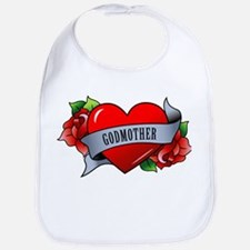 Heart & Rose - Godmother Bib