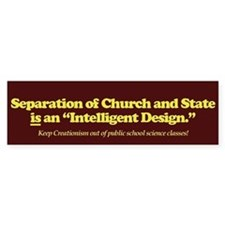 Separation Is ID Bumper Bumper Sticker