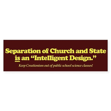 Separation Is ID Bumper Sticker