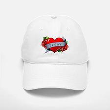 Heart & Rose - Pinay Baseball Baseball Cap