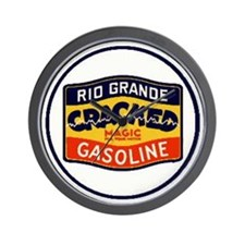 Rio Grande Cracked Gasoline Wall Clock