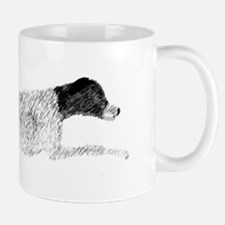 Black & White Leaping GSP Mug