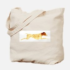 Liver & White Leaping GSP Tote Bag
