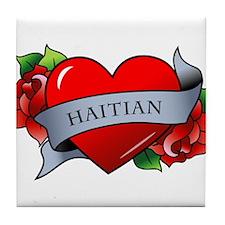 Heart & Rose - Haitian Tile Coaster