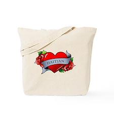 Heart & Rose - Haitian Tote Bag