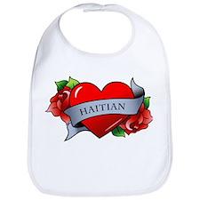 Heart & Rose - Haitian Bib