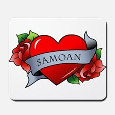 Heart & Rose - Samoan Mousepad