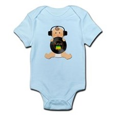 Deejay Baby Kaya with Headphones Body Suit