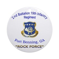2nd Bn 19th Inf Reg Ornament (Round)