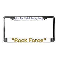 2nd Bn 19th Inf Reg License Plate Frame