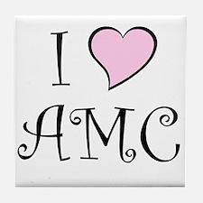 I Heart AMC Tile Coaster