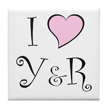I Heart Y&R Tile Coaster
