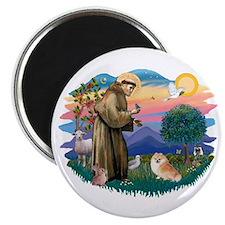 St Francis #2/ Pomeranian (r) Magnet