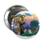 "St Francis #2 / 2.25"" Button"