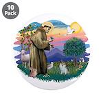 St Francis #2/ Pomeranian (s&w) 3.5
