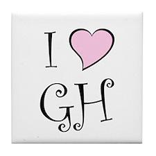 I Heart GH Tile Coaster
