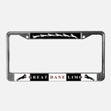 Great Dane Limo License Plate Frame