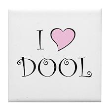 I Heart DOOL Tile Coaster