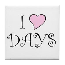 I Heart DAYS Tile Coaster