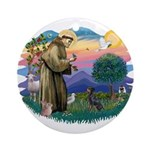 St Francis #2/ Manchester T Ornament (Round)