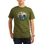 St Francis #2/ Sloughi Organic Men's T-Shirt (dark