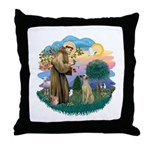 St Francis #2/ Sloughi Throw Pillow