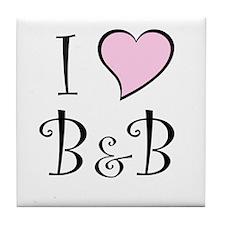 I Heart B&B Tile Coaster