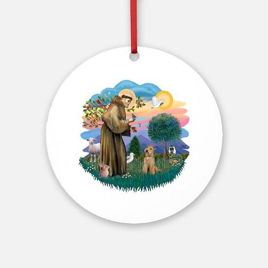 St Francis #2/ Lakeland T Ornament (Round)
