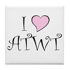 I Heart ATWT Tile Coaster