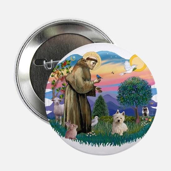 """St Francis #2/ Westie #1 2.25"""" Button"""