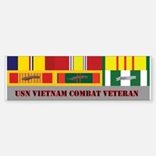 US Navy Vietnam Vet Sticker (Bumper)