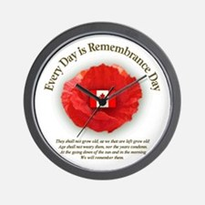 Funny Remembrance day Wall Clock