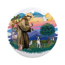 St Francis #2/ Boston T #1 Ornament (Round)