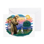 St Francis #2/ Boston T #1 Greeting Cards (Pk of 2